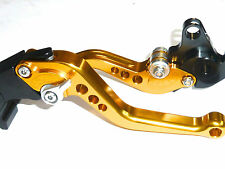 HONDA CB1000R 2008-2016 SHORT BRAKE & CLUTCH LEVERS SET RACE TRACK GOLD S14D