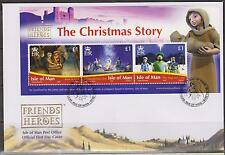GB - Isle of Man 2010 Christmas Story Mini-Sheet SG MS1624 FDC NOEL WEIHNACHTEN