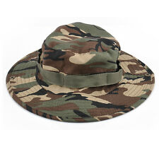Combat Camo Ripstop Military Army Boonie Bush Jungle Hiking Fishing Hat Cap New