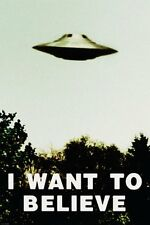 I WANT TO BELIEVE - UFO POSTER 24x36 - ALIENS SPACESHIP 9855