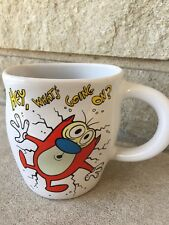 Ren And Stimpy Coffee Cup Stimpy Smashed Mug Vintage 1990s Nickelodeon