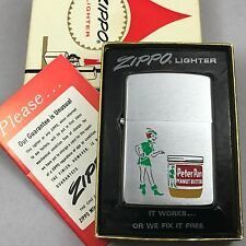 1969 Vintage Zippo Lighter - Peter Pan Peanut Butter - New in Box - Unfired!