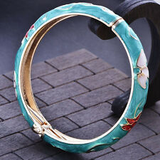 Fashion jewelry gold plated Green Enamel bangle charms bracelet free shipping