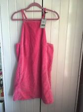 Brand new with tags bloggers fav pink topshop pinafore dress size 8 vintage
