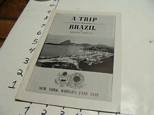 Vintage Travel paper: A TRIP TO BRAZIL William Ukers New York Worlds Fair 1939