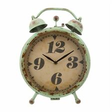 Big Retro Clock Mint Green Alarm Look Desk Vintage Country Shabby Chic Home