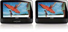 Philips 9-inch LCD Dual Screen Portable DVD Player (PD9012P/37) - Black - Used