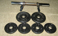 Barbells Champs 12 Lbs. 2 1/2, 1.1/4, Pounds Weights Bar Shaft Collars