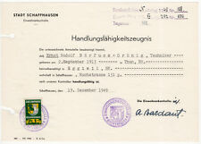 (I.B) Switzerland Revenue : Schaffhausen Local Tax 1Fr (complete document)