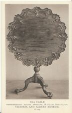 Museum Postcard - Tea Table - Carved Mahogany - English - About 1760   ZZ927