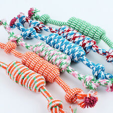 1pcs Chew Toy W/ Knot Fun Tough Strong Puppy Dog Pet Tug War Play Cotton Rope