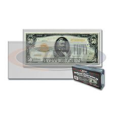 50 NEW Currency Bill Holders Quality Plastic Protector, BCW Brand, Strong Welds