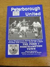 27/01/1998 Peterborough United v Northampton Town [Auto Windscreens Shield] . Th