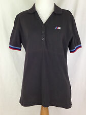 BMW Womens Polo Shirt L Size M Series Sport Racing Golf Gray Anthracite Ladies