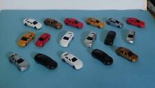 N Scale-Model Railroad Vehicles-Mixed Styles in 7 Colors--16 Cars per Set
