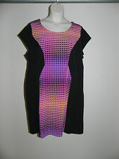 LANE BRYANT BLACK MULTI COLOR DRESS WOMENS PLUS SIZE 22 NWOT