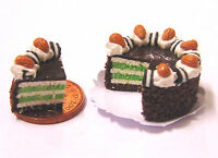 1:12 Scale Sliced Lime Layer Cake Dolls House Miniature Kitchen Accessory SC25