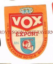 Belgium Chasse Royal VOX Export Beer label Tavern Trove