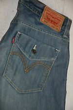 RARE LEVIS RED TAB 514 SLIM STRAIGHT JEANS BLUE STONEWASHED MID RISE W32 33 L32