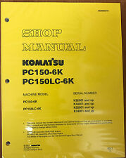 Komatsu Service PC150-6K Shop Repair Manual NEW