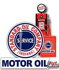 "12"" STANDARD MOTOR OIL GAS PUMP OIL TANK DECAL LUBESTER DECAL STICKER"