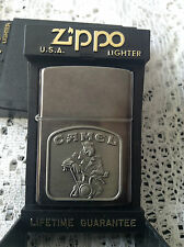 ZIPPO CAMEL ON MOTORCYCLE IN MIDNIGHT CHROME NEW
