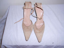 Casadei Perforated Suede Ankle Strap Heels   6