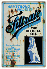 Reproduction of Armstrong Siddeley Filtrate the Official Oil Sign. 12X18