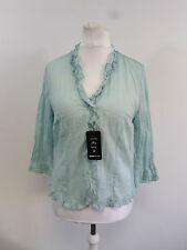 Frank Walder aqua crushed rose blouse SIZE 44 / 18 RRP £62 BRAND NEW BOX8501 N