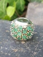 Anhänger Bead mit Jade massiv rund  925 Silber