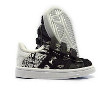 [S80153] ADIDAS SUPERSTAR CF WHITE BLACK SNEAKERS TODDLERS SIZE 8
