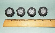 Lego Parts Pieces Wheel Gray #30285 & Tire 30.4 x 14    LOT of 4   #LX101