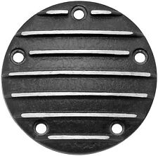 BLACK FINNED IGNITION MODULE COVER FOR HARLEY TWIN CAM 99-14 FINNED TIMER COVER
