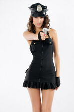 Frisky Police Officer Cop Dress Fancy Dress Party Costume 3 Piece