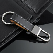 Black Creative Men's Leather Strap Keyring Keychain Key Chain Ring Keyfob Gift