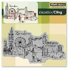 PENNY BLACK RUBBER STAMPS SLAPSTICK CLING LONDON STAMP NEW cling STAMP