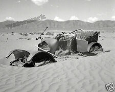 Photograph  Vintage Abandoned Dust Covered Car Wreck   Idaho Year 1937   8x10