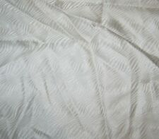 "Silk JACQUARD Fabric WHITE WAVES 14""x18"" remnant"