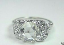 Antique Rose Diamond Engagement Ring 18K Ring Size 5.75 EGL USA Art Deco Vintage