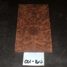 Book Matched Darkeye Corrugata Burl Knife Gun Scales 001-16U Better than Amboyna
