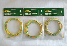 THREE PACKS OF EARTH SLEEVING 2MM BORE X 2 METRE LENGTH BY TOWER