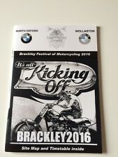 BRACKLEY FESTIVAL OF MOTORCYCLING 2016 PROGRAMME - NEW