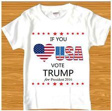 2016 DONALD TRUMP FOR PRESIDENT MAKE AMERICA GREAT AGAIN REPUBLICAN  T-SHIRT TEE