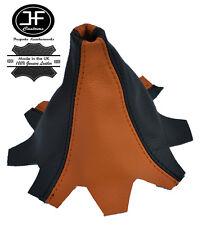 Orange Schwarz Leder Schaltmanschette passen VW T5 MULTIVAN CARAVELLE Schaltsack
