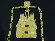 "G UNIT & SOLDIER GOLD TONE PENDANT 30"" CHAIN HIPHOP BLING RARE"