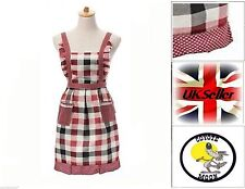 RETRO VINTAGE 50s STYLE FULL APRON / PINNY - Gingham UK