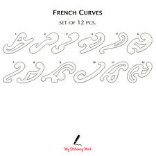 Isomars FRENCH SHIP CURVES SET OF 12 Rulers Technical Drawing Stencil Template