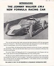 Presentamos la nueva fórmula Jonny Walker J.W.4 de folleto de coche de carreras.