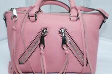 Rebecca Minkoff Micro Moto Satchel Tote Shoulder Bag Pink Handbag NWT
