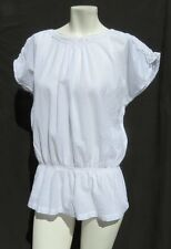 NEW FRESCO by NOMADIC TRADERS White Cotton Lace Zara Blouse Shirt Top size M